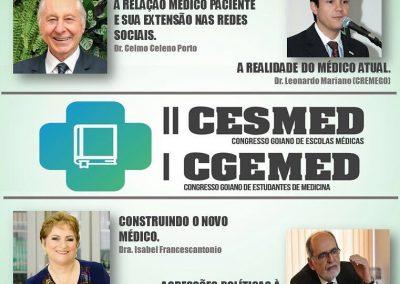 Dr. Eduardo Camelo de Castro, Dra. Gabriela Cantarelli e Bruno Oliveira no II CONGRESSO DE ESCOLAS MÉDICAS
