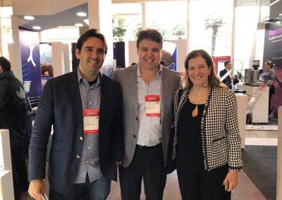 Dr. Alexandre Moraes, Dr. Eduardo Camelo de Castro e Dra. Thais Cury no Congresso Brasileiro de Reprodução Assistida